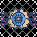 Ai Brain Chip Processor Chip Icon