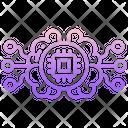 Ai Brain Chip Icon