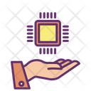 Imicro Chip Hand Ai Chip Artificial Intelligence Chip Icon