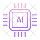 Iai Chip Ai Chip Artificial Intelligence Chip Icon