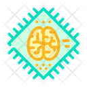 Brain Microchip Artificial Icon