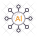 Artificial Intelligence Connection Icon