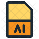 Ai Format Document Format Icon