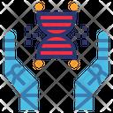 Healthcare Robot Dna Icon