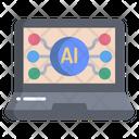 Laptop Virtual Connection Icon