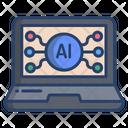 Ai Laptop Laptop Virtual Icon