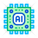 Artificial Intelligence Microchip Icon