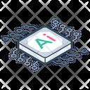 Ai Processor Ai Microchip Ai Microcircuit Icon