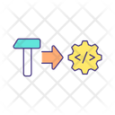 AI Replacing Human Labor Icon