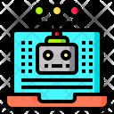 Ai Robot Chatbot Bionic Man Icon