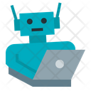 Laptop Artificial Intelligence Ai Robot Icon