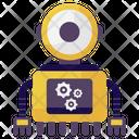 Ai Robot Process Ai Robot Bionic Man Icon