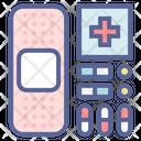 Aid Pills Bandage Icon