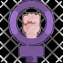 Aids Ribbon Woman Icon
