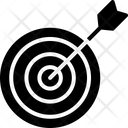 Bullseye Dartboard Goal Icon