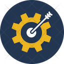 Aim Bullseye Cogwheel Icon