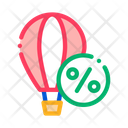 Travel Air Balloon Icon