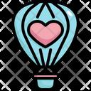 Air Balloon Travel Honeymoon Icon