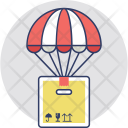 Air Balloon Delivery Box Icon