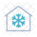 Snow Flake Frost Home Icon