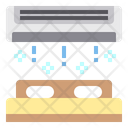 Bed Air Conditioner Heating Icon