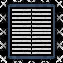 Car Air Filter Icon