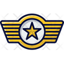 Air Force Wings Commander Badge Airforce Icon