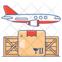 Air Freight Flight Airplane Cargo Icon