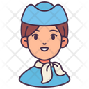 Woman Avatar Air Hostess Icon