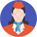 Air Hostess Stewardess Icon