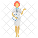 Air Hostess Stewardess Flight Attendant Icon