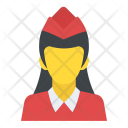 Hostess Stewardess Flight Icon