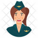 Air Hostess Flight Attendant Aircrew Icon
