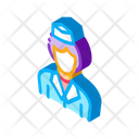 Stewardess Woman Silhouette Icon
