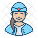 Flight Attendant Air Hostess Aircrew Icon