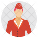 Airline Female Profile Icon