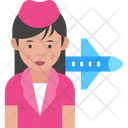 Air Hostess Flight Attendant Hostess Icon