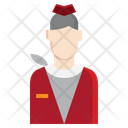 Air Hostess Flight Attendant Stewardess Icon