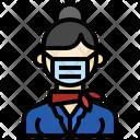 Air Hostess Professions Stewardess Icon