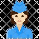 Air Hostess Flight Attendant Occupation Icon