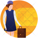 Cabin Crew Flight Hostess Air Hostess Icon