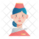 Air Hostess Girl Avatar Icon