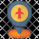Pin Location Air Plane Icon