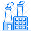 Air Pollution Thermal Pollution Eco Factory Icon