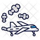 Airplane Exhaust Pollution Icon