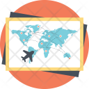Airline Route Map Icon