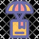 Parachute Deliver Transportation Icon