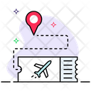 Air Ticket Plane Pass Entry Ticket Icon