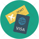 Air Ticket And Icon
