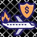Air Travel Insurance Aviation Insurance Plane Insurance Icon
